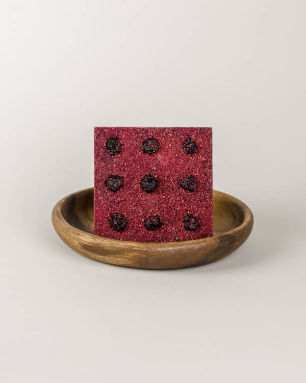 Dark Chocolate Berry Square Nine Serving